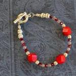 Red Gemstones And Swarovsk..