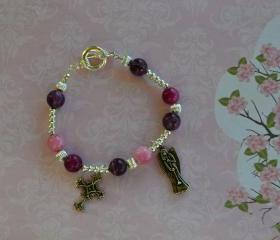Charm Bracelet with gemstones