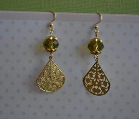GOLD EARRINGS WITH SWAROVSKI