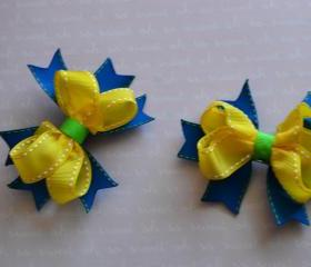 Yellow and Blue Bow